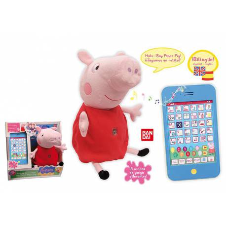 peluche interactivo con tablet peppa pig. Black Bedroom Furniture Sets. Home Design Ideas