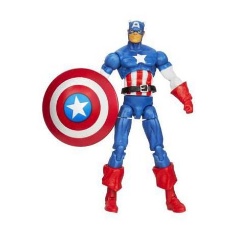 Figura de Capitán America 10 cm. de la serie Infinite de los vengadores de Marvel