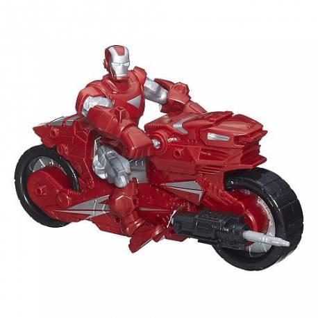 Figura 15 cm y vehículo del personaje Iron Man de los Vengadores de Marvel Super Hero Masher