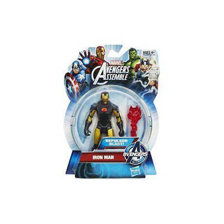 Figura articulada 10 cm del personaje Iron Man Negro de los Vengadores de Marvel Serie All Star