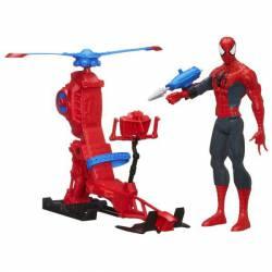 Figura titan spiderman con helicóptero