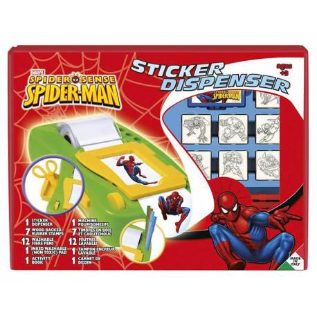 Máquina de Pegatinas Spiderman