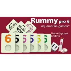 Rummy Pro 6 jugadores Aquamarine Games