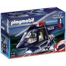 Helicoptero de Policía con Luces Led Playmobil