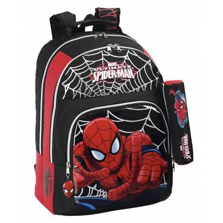 Mochila Spiderman 32 cm con Portatodo