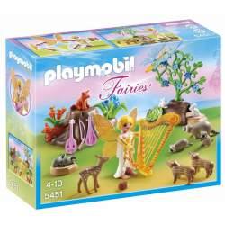 Playmobil Hada de la música con animales del bosque