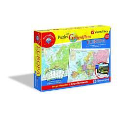 Los Puzzles Geográficos Europa Juego Educativo + Juego Multimedia