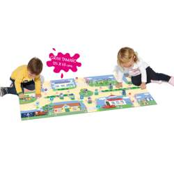 Tapiz Activity City Peppa Pig Molto 124x68 cm con 37 piezas