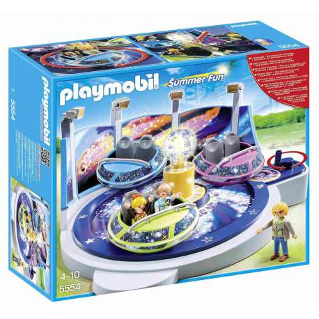 Playmobil Atracción Naves Giratorias con Luces