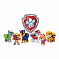 Patrulla Canina Pack de Acción con Figura de Marshall Rubble Rider Chase Rocky Zuma o Skye