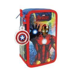 Avengers Glitter Estuche Plumier Triple Cife