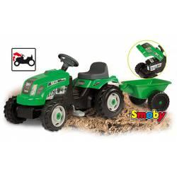 Tractor GM Verde con Remolque