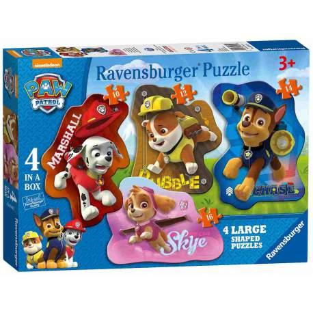 Patrulla Canina 4 Puzzles de 10 12 14 y 16 Piezas