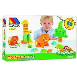 Molto Blocks Magic Zoo Construcción 80 Piezas