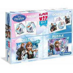 Frozen SuperKit 4 en 1 Puzzles Memo y Domino