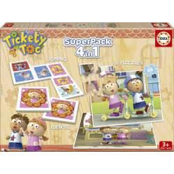 Tickety Toc SuperPack 4 en 1 Puzzles Memo y Domino