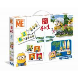 Minios EduKit 4 en 1 Puzzle Cubos Números y Domino