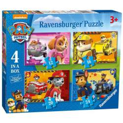 Patrulla Canina 4 Puzzles de 12 16 20 y 24 Piezas