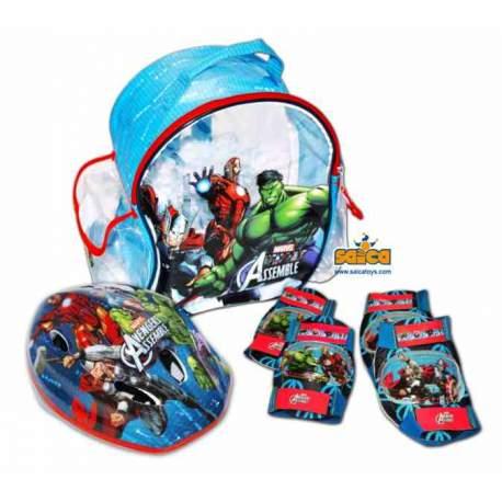 Avengers Mochila con Casco y Protecciones