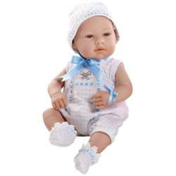 Muñecas Arias Elegance Real Baby Elementos Swarovski 42 cm Azul
