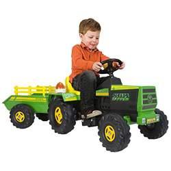 Tractor con Remolque y Batería Injusa