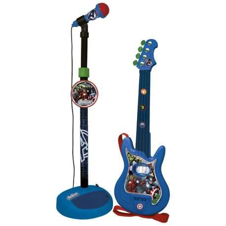 Avengers Guitarra con Micrófono de Pie