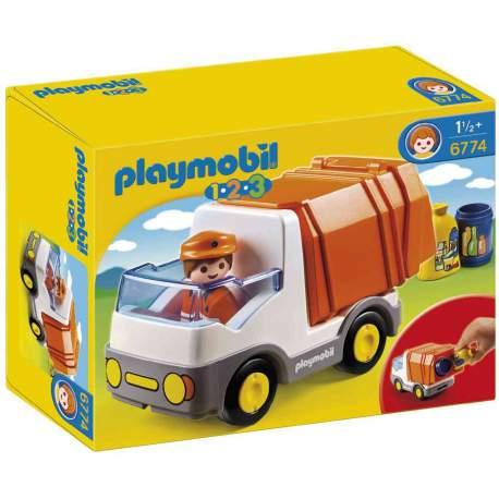 Playmobil 1.2.3 Camión de Basura Ref. 6774
