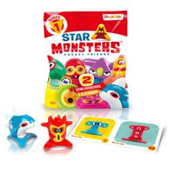 Star Monsters Sobre 2 Figuras y 2 Pegatinas