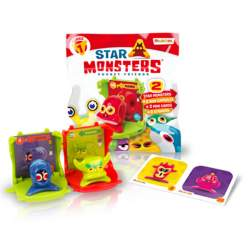Star Monsters Mini Cápsula 2 Mini Cápsulas 2 Figuras y 2 Pegatinas