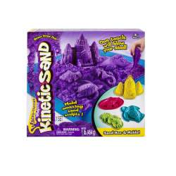 Arena Moldeable Kinetic Sand Playset Castillo Incluye Arena, 1 Base Y 4 Moldes