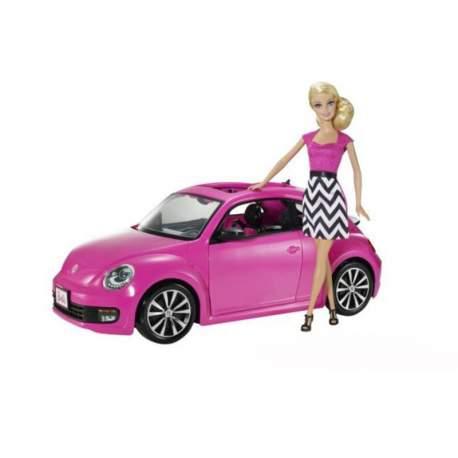 Coche Beetle De Barbie Con Muñeca