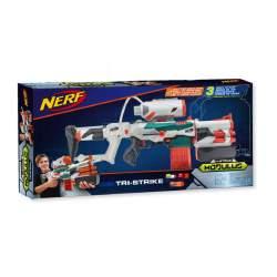 Nerf Elite Modulus Tri-Strike C/ Tres Tipos De Disparos