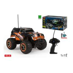 Coche R/C 1:18 Big Wheel Pvc Racing Speed Pilas