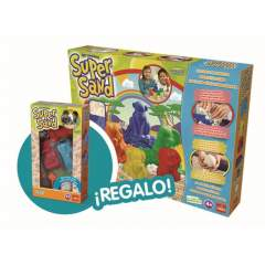 Arena Moldeable Super Sand Safari Color Con Moldes De Regalo
