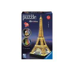 Puzzle 3D Torre Eiffel Con Luz De Led