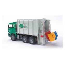 Bruder Camion De Basura Man, Con Carga Trasera (Verde) 50 X 18 X 25 Cm.