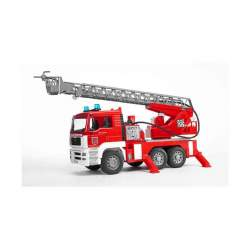 Bruder Camion De Bomberos Man, Con Gran Escalera Y Módulo Luz-Sonido 47 X 17 Cm