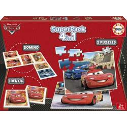 Cars SuperKit 4 en 1 Puzzles Memo y Domino