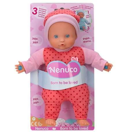 Nenuco 3 Funciones Color Rosa