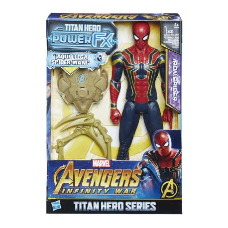 FIGURA TITAN SPIDERMAN CON MOCHILA POWER FX 30 CMS