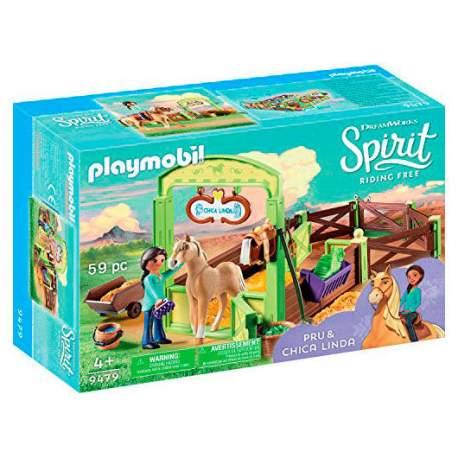 Establo Pru y Chica Linda Playmobil Spirit
