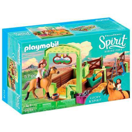 Establo Lucky y Spirit Playmobil