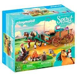 Papa De Lucky y Carruaje Playmobil Spirit