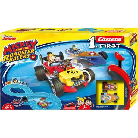 Pista Carrera Mickey Roadster Racers incluye dos coches Mick