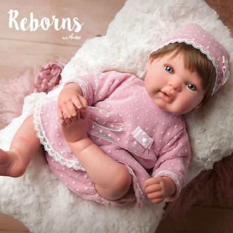Reborn Arias Carolina con cojin 45 cm