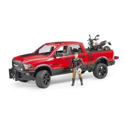 Coche Ram 2500 Power Wagon Con Moto Ducati Desert Sled Y Pil