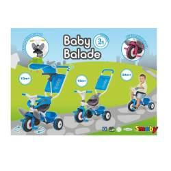Triciclo Baby Balade Azul 66,5 X 50 X 52 Cm