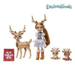 Muñeca Enchantimals Rainey, Reno Y Familia Con Accesorios.