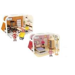 Casa De Madera Y Plastico Con Accesorios 2 Mod. Sdos. Woomax