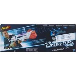 Pistola Nerf Laser Ops Deltaburst conuces y sonidos inclu
